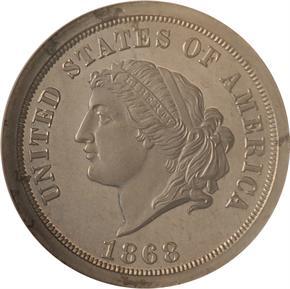 1868 J-659 $5 PF obverse