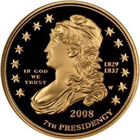 2008 W JACKSON'S LIBERTY G$10 PF obverse