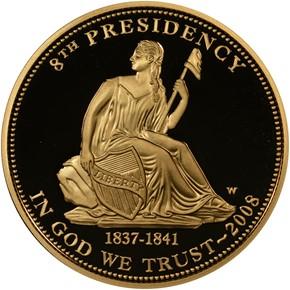 2008 W VAN BUREN'S LIBERTY G$10 PF obverse
