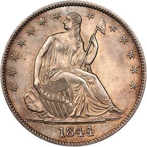 1844 50C MS obverse