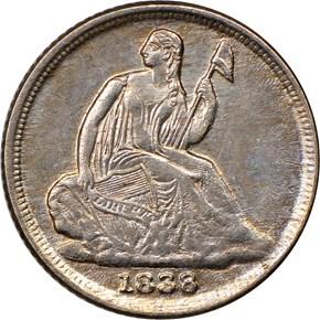 1838 O H10C MS obverse
