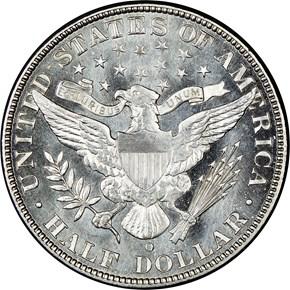 1901 O 50C MS reverse