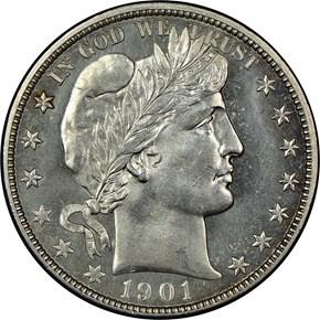 1901 O 50C MS obverse