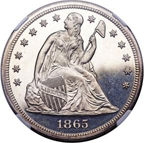 1865 $1 PF obverse