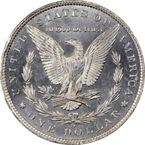 1886 O S$1 MS reverse