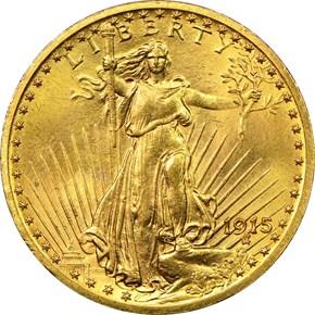 1915 $20 MS obverse
