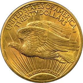 1915 $20 MS reverse
