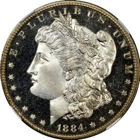 1884 S$1 PF obverse