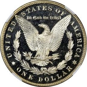 1884 S$1 PF reverse