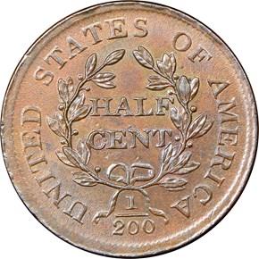 1805 1/2C MS reverse