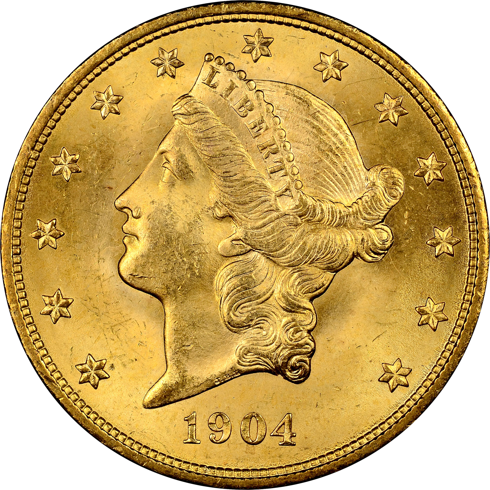 1904 20 Ms Liberty Head 20 Ngc