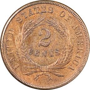 1864 SMALL MOTTO 2C MS reverse
