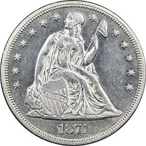 1871 CC $1 MS obverse