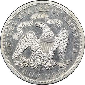 1871 CC $1 MS reverse