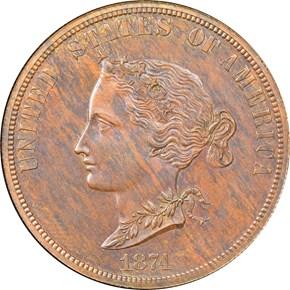 1874 J-1374 $10 PF obverse