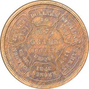 1874 J-1374 $10 PF reverse
