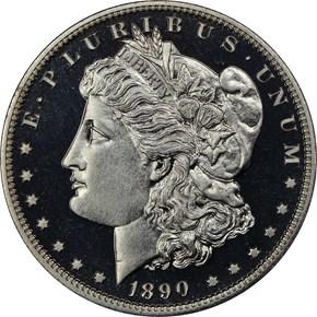 1890 $1 PF obverse