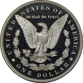 1890 $1 PF reverse