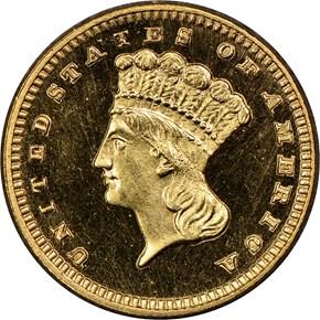 1885 G$1 PF obverse