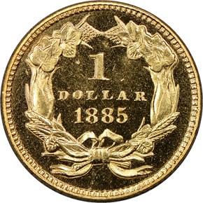 1885 G$1 PF reverse