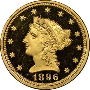 1896 $2.5 PF obverse