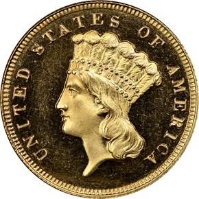 1883 $3 PF obverse