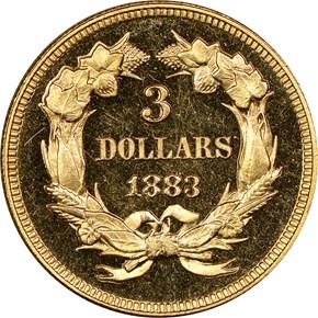 1883 $3 PF reverse