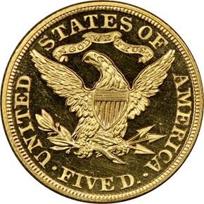 1900 $5 PF reverse