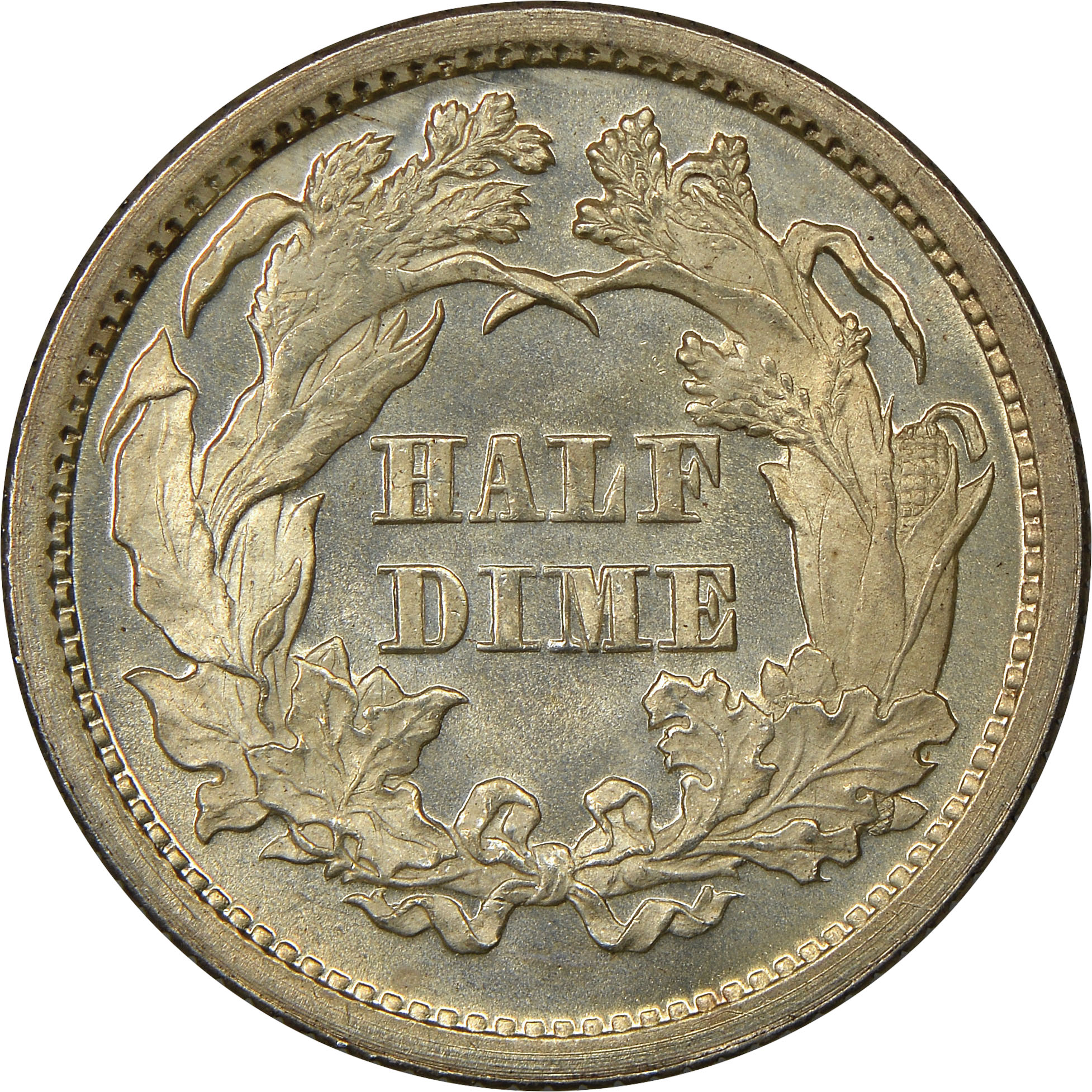 1871-S Seated Liberty Silver Half Dime H10C NGC AU Details