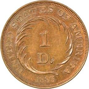 1836 J-70 G$1 PF reverse