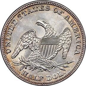 1839 O 50C MS reverse