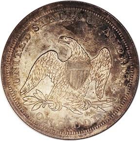 1866 NO MOTTO S$1 PF reverse