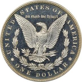 1885 $1 PF reverse