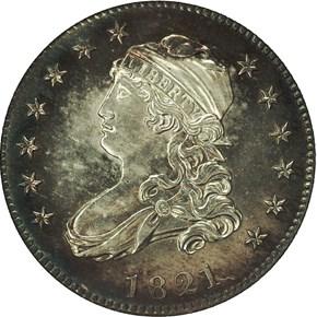 1821 25C PF obverse