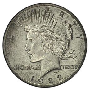1922 HIGH RELIEF $1 PF obverse