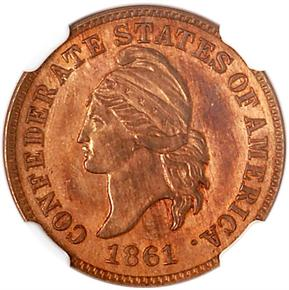 1861 CSA ORIGINAL B-8005 1C MS obverse