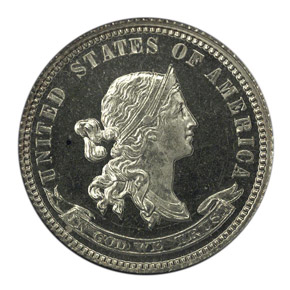 1870 J-843 10C PF obverse