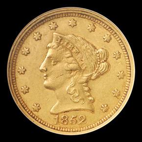 1852 C $2.5 MS obverse