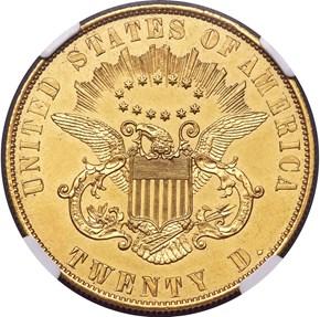 1860 J-273 GILT $20 PF reverse