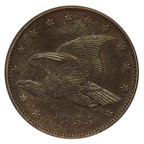 1855 J-168 1C MS obverse