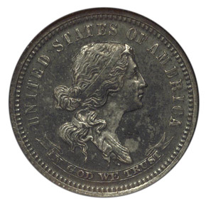 1869 J-708 10C PF obverse