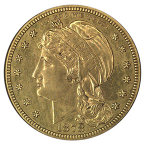 1878 J-1580 GILT $10 PF obverse