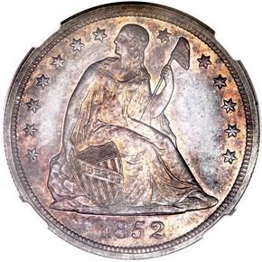 1852 $1 MS obverse