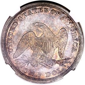 1852 $1 MS reverse