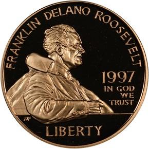 1997 W FRANKLIN D. ROOSEVELT $5 PF obverse