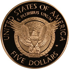 1997 W FRANKLIN D. ROOSEVELT $5 PF reverse