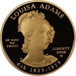2008 W LOUISA ADAMS G$10 PF obverse