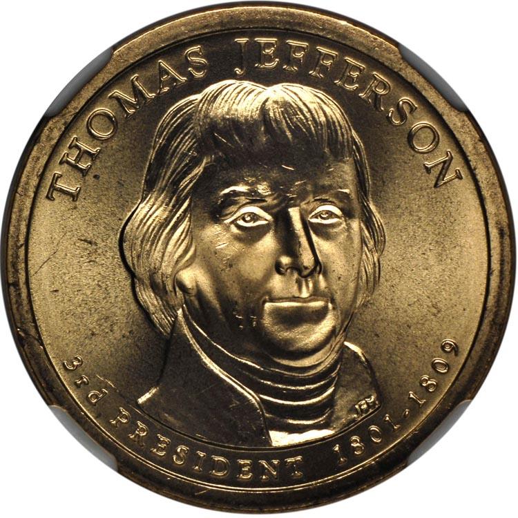 thomas jefferson $1 coin value