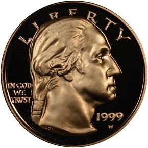 1999 W GEORGE WASHINGTON $5 PF obverse