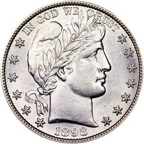 1898 S 50C MS obverse